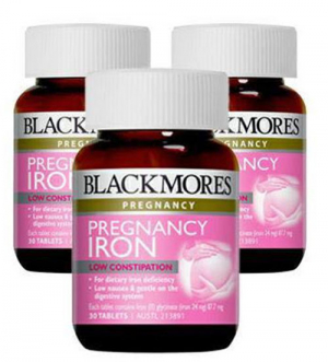 VIÊN BỔ SUNG SẮT CHO BÀ BẦU BLACKMORES PREGNANCY IRON – 30 VIÊN