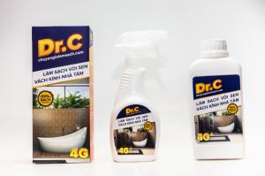 Dung Dich Tẩy Cặn Canxi, Làm Sạch Vòi Sen Inox, Cabin Nhà Tắm - Dr.C-4G (500 ml)