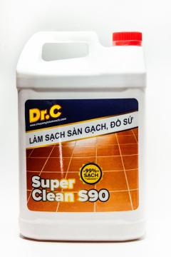 DD Làm Sạch Các Vết Bẩn Cứng Đầu, Tẩy Xi Măng, Vôi Vữa Trên Bề Mặt Sàn Gạch Dr.C Super Clean S90